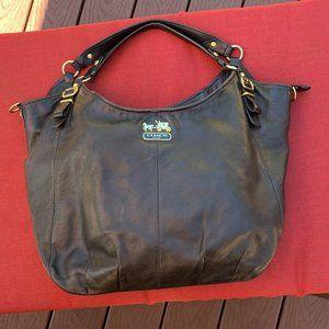 COACH Black Leather Madison Bag